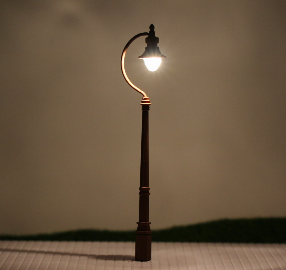 LQS04 5pcs Model Railway Train Antique Lamp Post Street ...