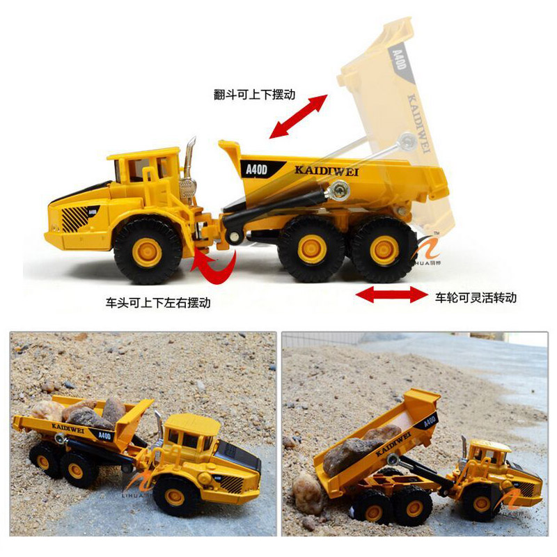 Kdw 1 87 Ho Scale Diecast Truck Construction Vehicle Cars
