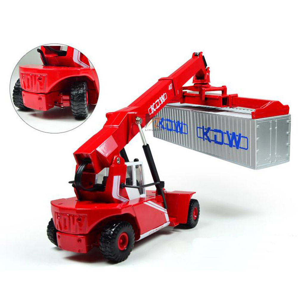 Kdw 1 50 Scale Diecast Reach Stacker Truck Construction