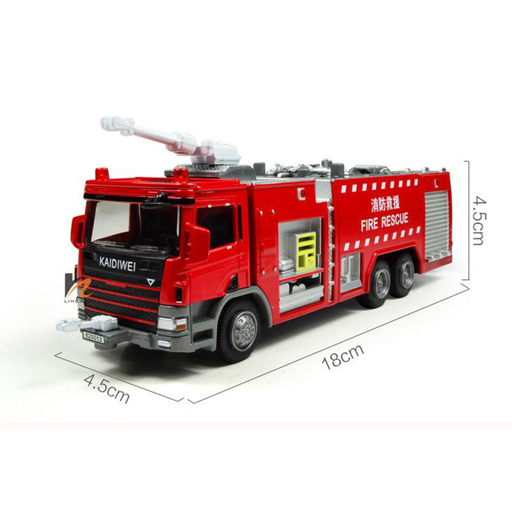 NEW KDW 1:50 Scale Diecast Fire Rescue Trucks Vehicle Cars