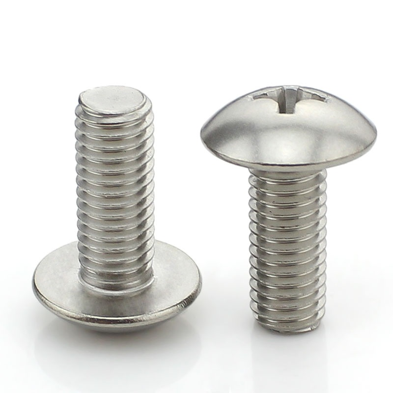 Stainless steel cross recessed mushroom screws truss