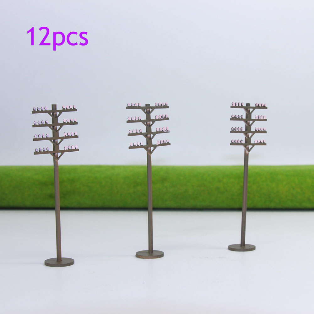 Measuring Scale Pole Rod : Gy pcs model train railway round telephone poles