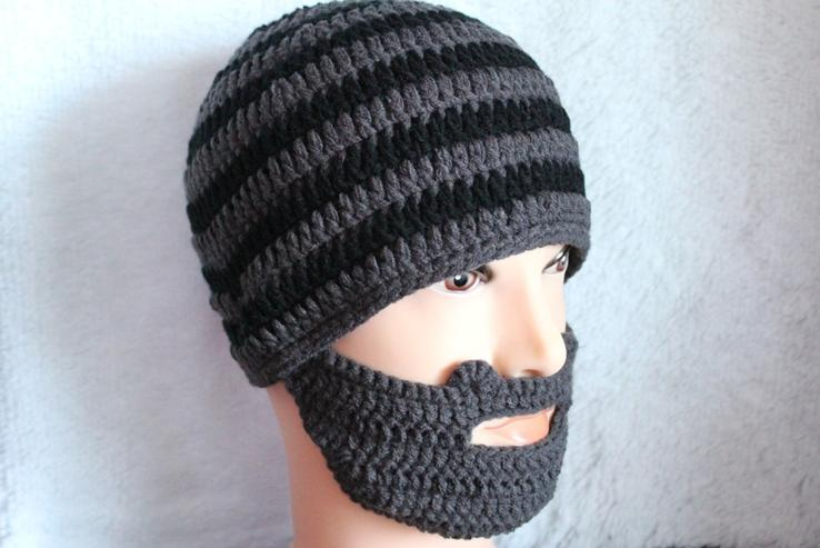 Knitting Patterns By Needle Size : Handmade Knit Beard Beanie Mustache Mask Face Warmer Ski Winter Hat Cap 2015 ...