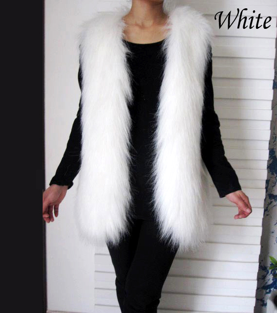 gilet femme hiver doublure fausse fourrure sans manches gilet long manteau ebay. Black Bedroom Furniture Sets. Home Design Ideas