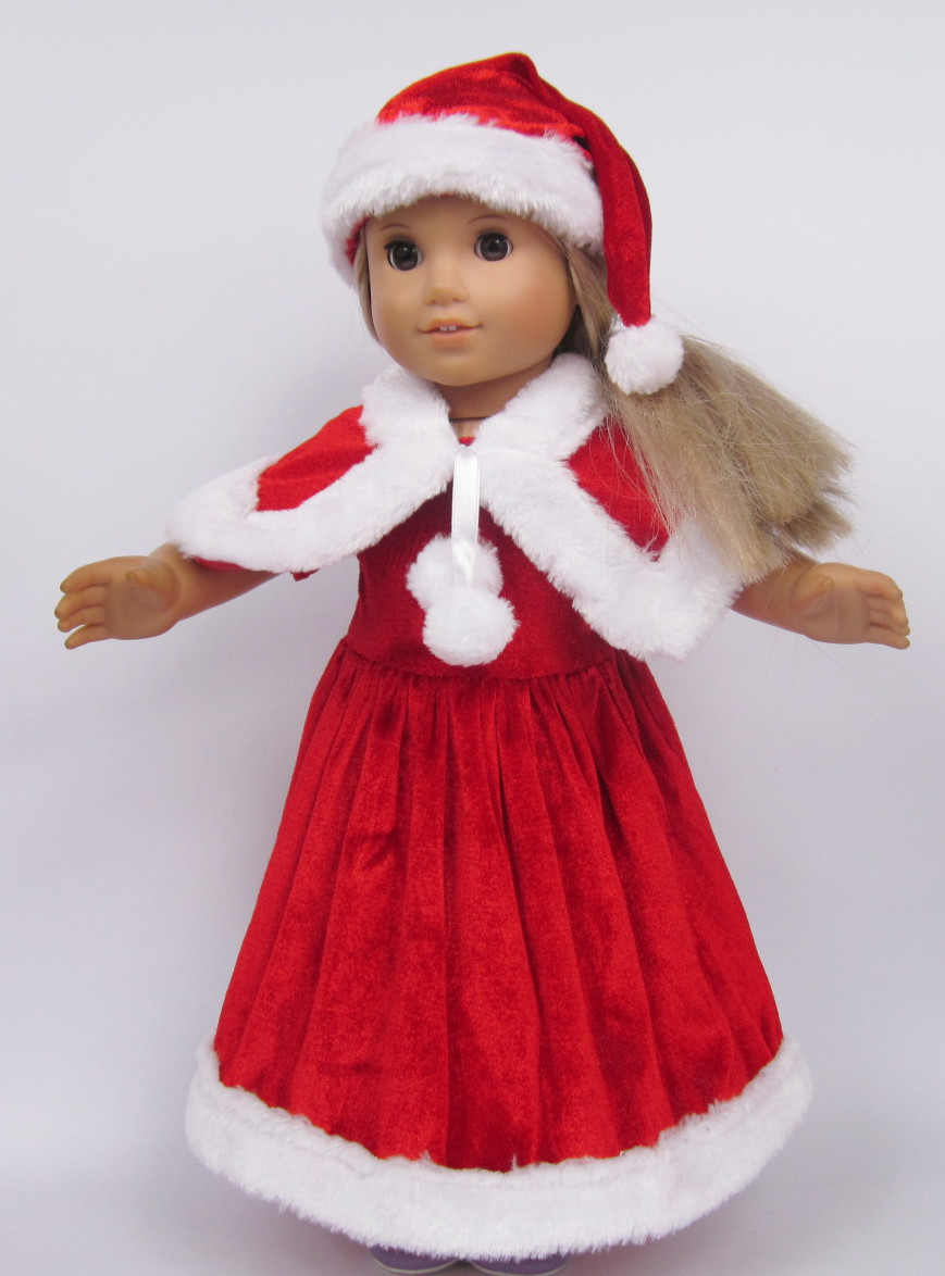 About a style doll clothes for american girl red christmas costume