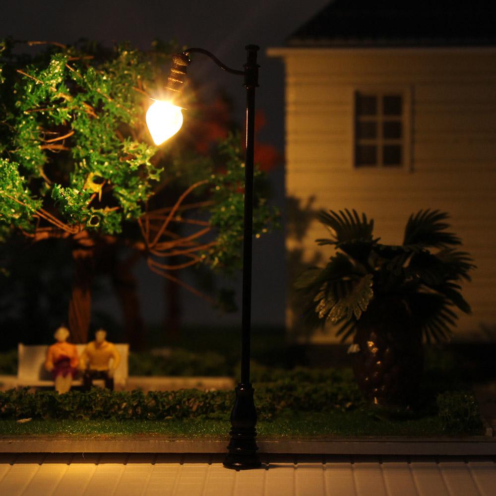 Details about LQS29 5PCS Model Railroad train Lamp posts Yard street light  Lamps OO/HO scale