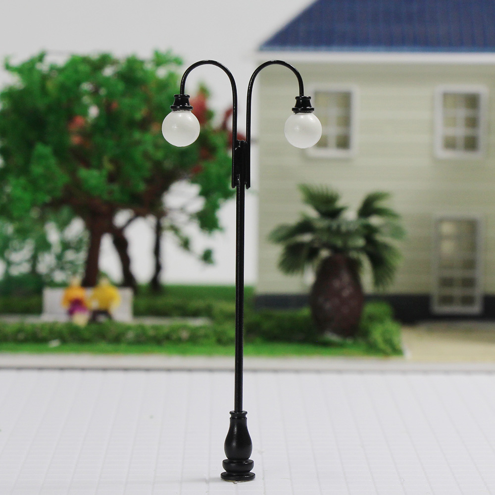 Details about LQS33 5PCS Model Railroad train Lamp posts Yard street light  Lamps OO/HO scale