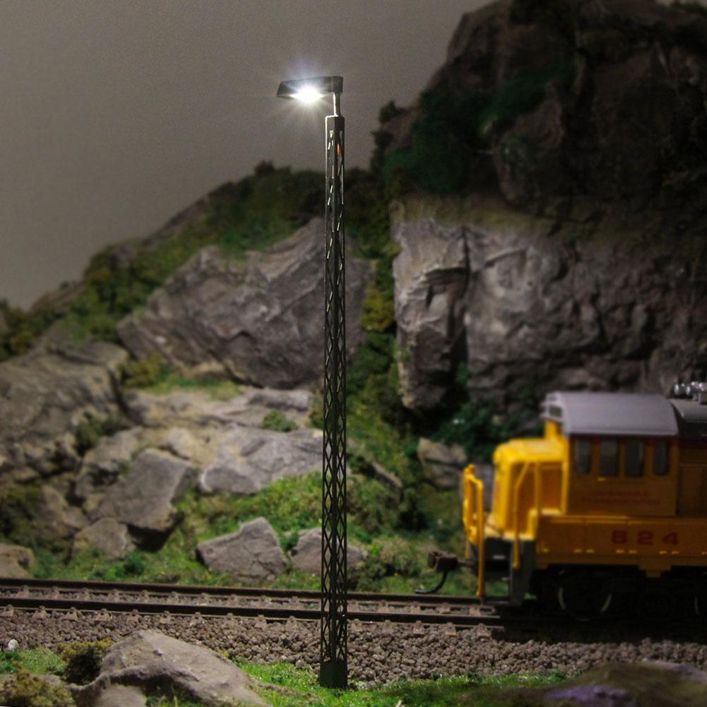 Details about LQS55HO 3pcs Model Railway lights Lattice Mast lamp Track  light HO Scale Layout