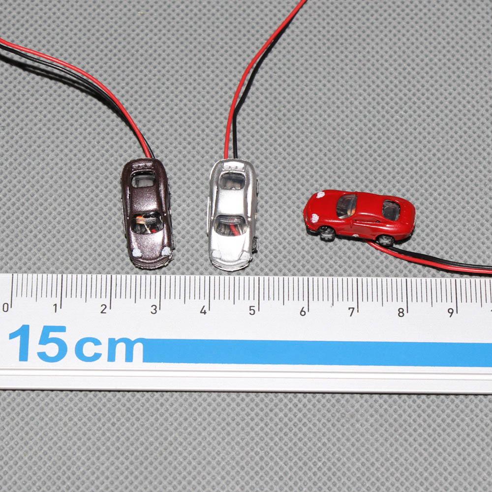 Spur Z Autos PKW mit Beleuchtung 3V EC2003V Neu 12 Stk