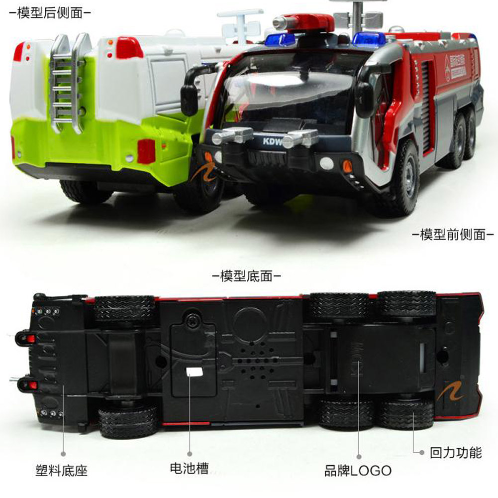 Kdw 1 50 O Scale Diecast Airfield Water Cannon Fire Truck