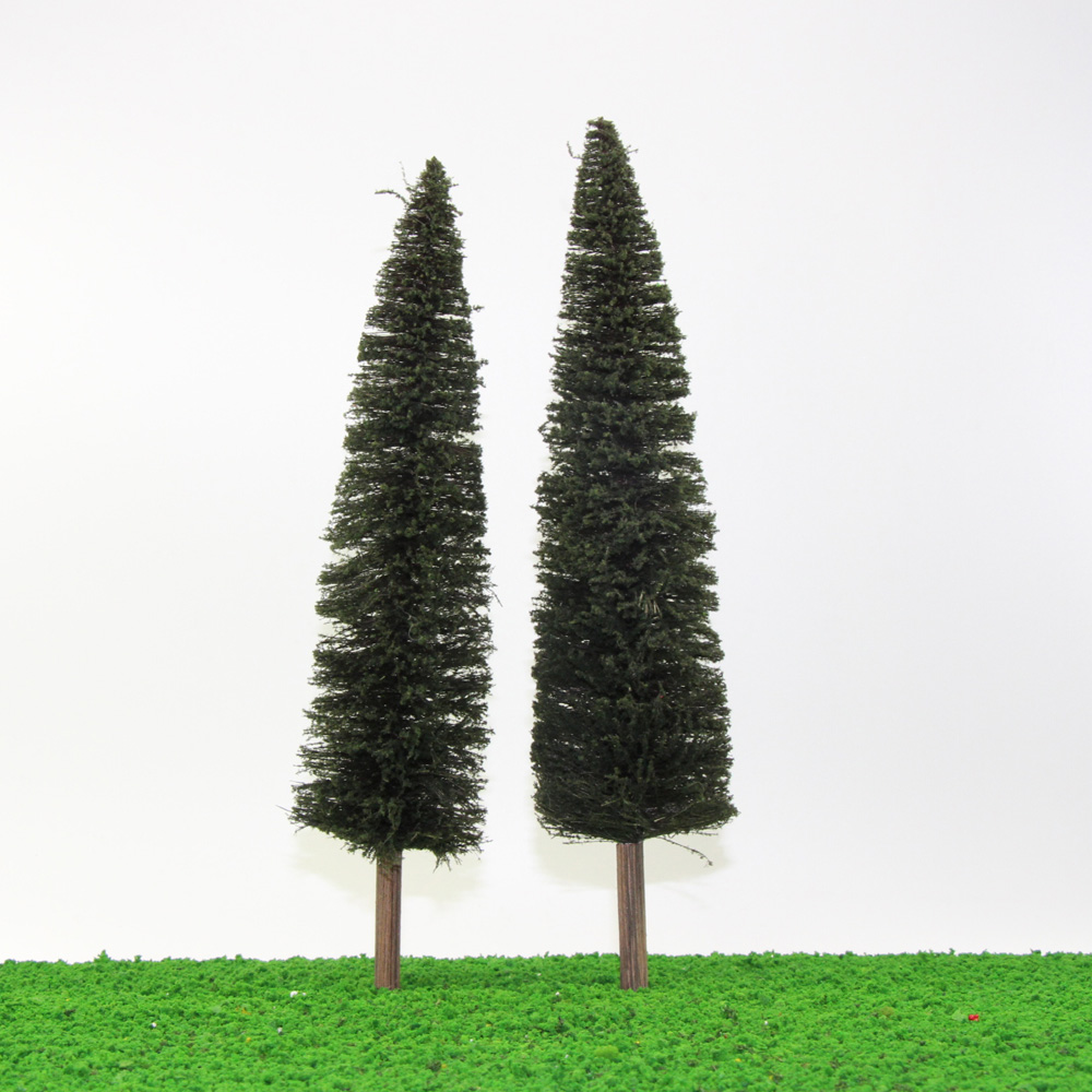 Details about S0401 2PCS 11 81''/30cm Christmas Home Decor Model Pine Trees  1:43 O Scale NEW