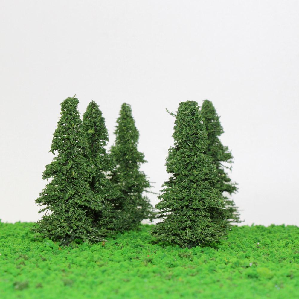 Details about S0403 20pcs 9cm Model Train Pine Trees Railroad Scenery  Layout TT HO Scale NEW