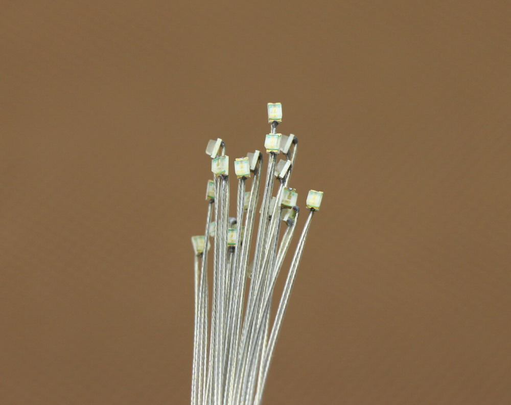 20-40pcs Pre-soldered micro litz wired leads BLUE SMD Led New T0805B