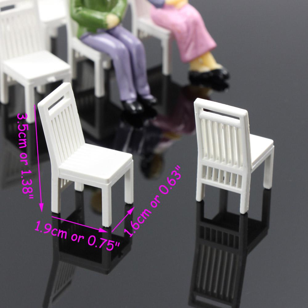 ZY15030 12pcs Model Train Railway Leisure Chair Settee Bench Scenery 1:30  Scale