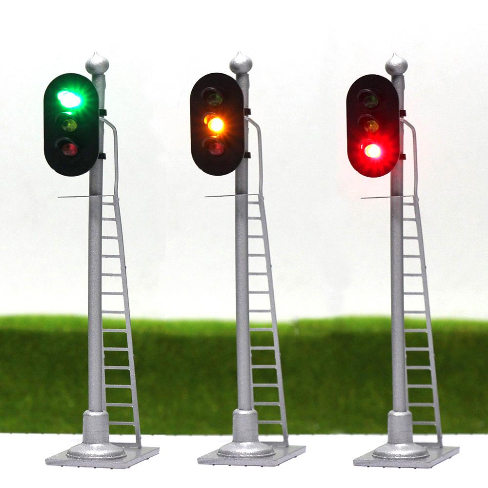 Ampeln LED Signal Lichtsignal 60mm 12V rot//grün H0 JTD03DE Neu 5 Stk TT