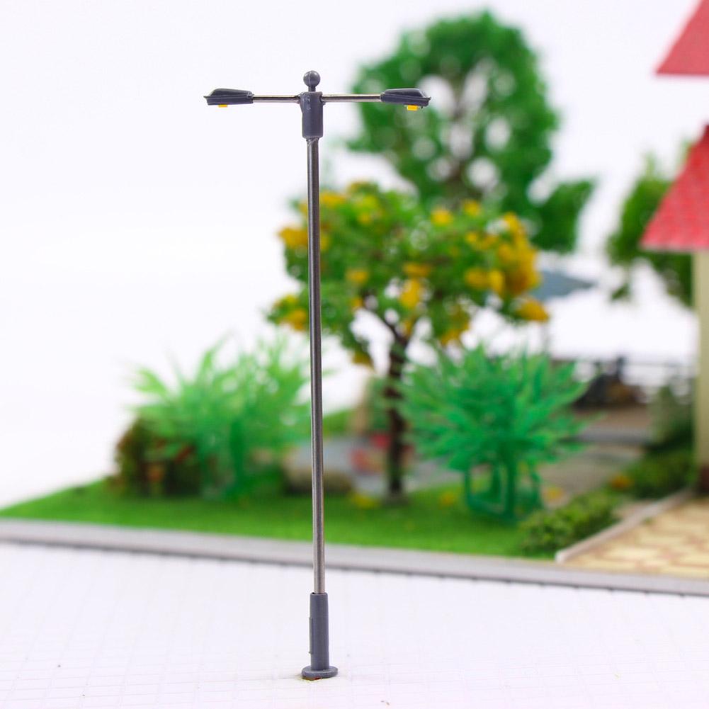 N Straßenlampen flexible Höhe LQS11D 10 Stk Doppelpeitschenlampen LED 80mm TT